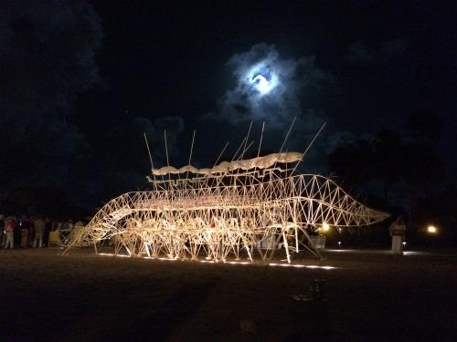 Strandbeest at night